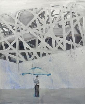china#2, 135 cm x 110 cm, Tempera/Öl/LW