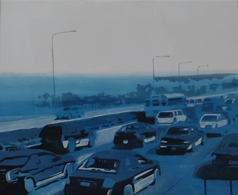 traffic#1, 45 cm x 56 cm, Tempera/Öl/LW, 2017