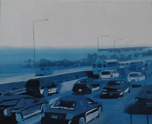traffic#1, 45 cm x 56 cm, Tempera/Öl/LW, 2017