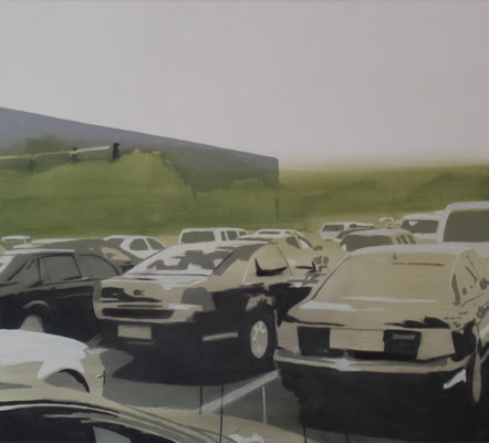 traffic#1, 60 cm x 80 cm, Tempera/Öl/LW, 2017