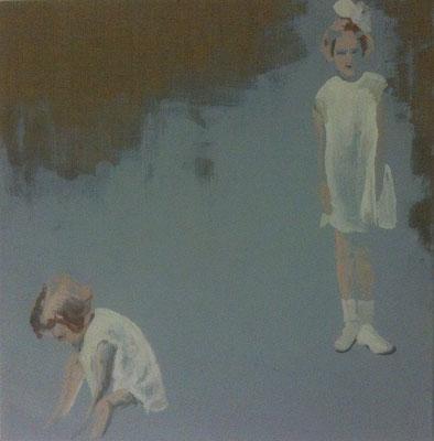 o.T., 70 cm x 70 cm, Tempera/LW, 2014