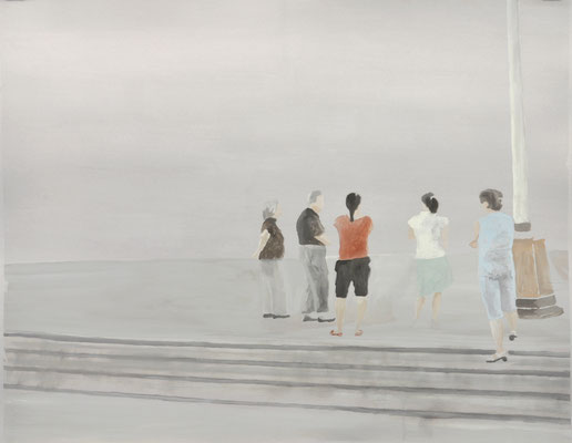 o.T., 80 x 100 cm, Tempera/Buchbinderpappe, 2008