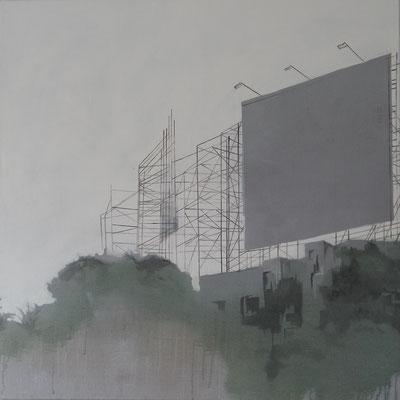 billboard, 120 cm x 120 cm, Tempera/Acryl/LW, 2016