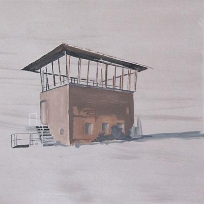 somewhere, 75 cm x 76 cm, Tempera/Buchbinderpappe, 2011