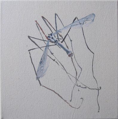 o.T. #3, 25 cm x 25 cm, Tempera/LW, 2010