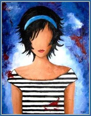 L'inconnue Grandeur:18x14,acrylique Vendu