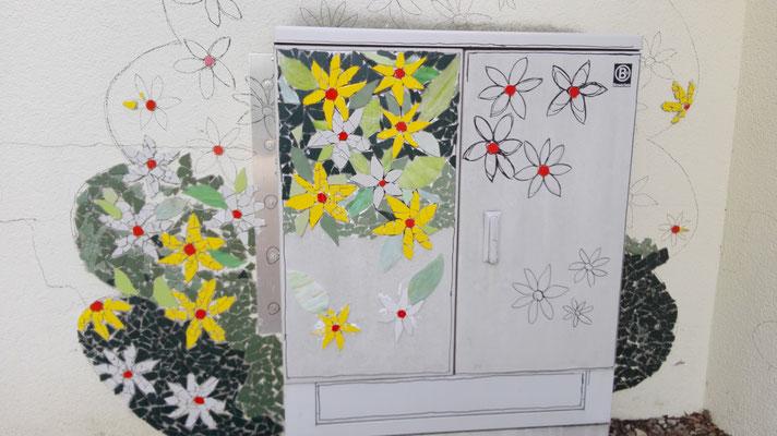 Kunst am Bau mit Schüler 2019 Eckenhaid mit Roswitha Farnsworth