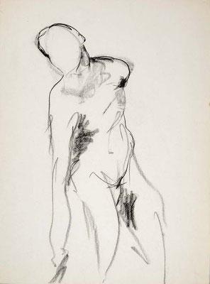 #105, fusain sur papier,  45 x 61 cm- Charcoal on paper, 18 x 24
