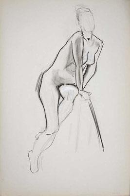1999, #43, fusain sur papier, 61 x 91 cm. - Charcoal on paper, 24 x 36