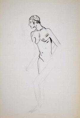 1999, #49, fusain sur papier, 61 x 91 cm. - Charcoal on paper, 24 x 36