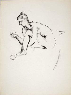 #108, fusain sur papier,  45 x 61 cm- Charcoal on paper, 18 x 24