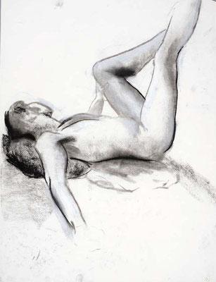 1991, #84, fusain sur papier, 45 x 61 cm. - Charcoal on paper, 18 x 24