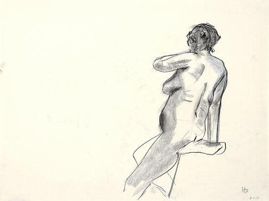 2012, #4, fusain sur papier - Charcoal on paper
