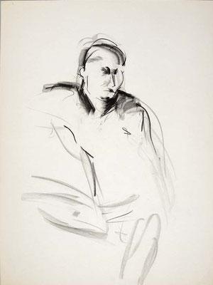 #107, fusain sur papier,  45 x 61 cm- Charcoal on paper, 18 x 24