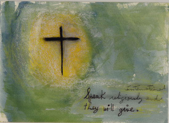 Errances #085, Religiously, 2014, 23 x 17 cm. - 9 x 6.5 inches.