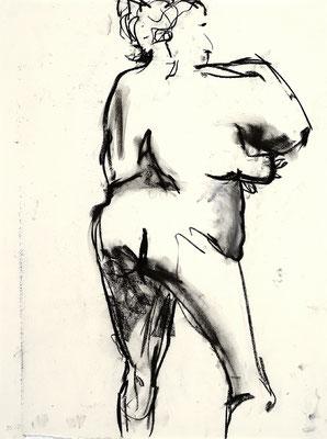 2012, #1, fusain sur papier - Charcoal on paper