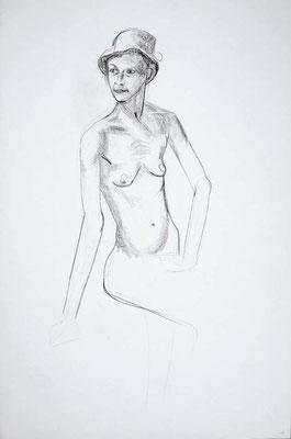 1999, #52, fusain sur papier, 61 x 91 cm. - Charcoal on paper, 24 x 36