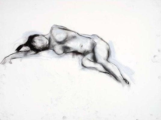 1991, #88, fusain sur papier, 61 x 45 cm - Charcoal on paper, 24 x 18