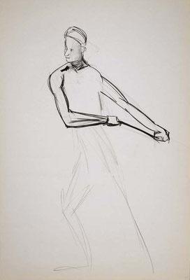 1999, #48, fusain sur papier, 61 x 91 cm. - Charcoal on paper, 24 x 36