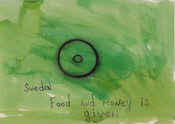 Errances #043, Food-money, 2014, 23 x 17 cm. - 9 x 6.5 inches.