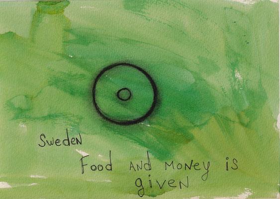 Errances #043, Food-money, 2015, 23 x 17 cm. - 9 x 6.5 inches.