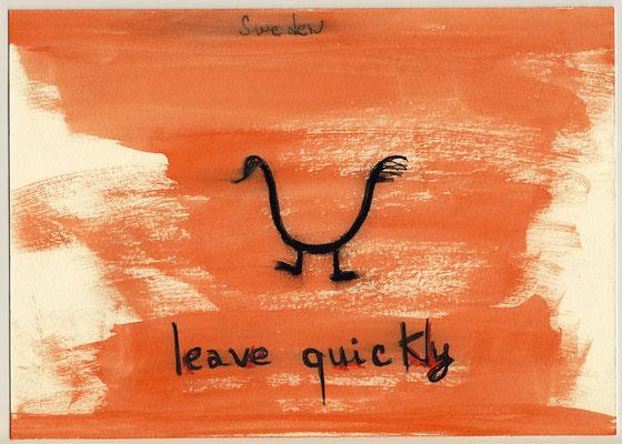 Errances #091, Leave, 2015, 23 x 17 cm. - 9 x 6.5 inches.
