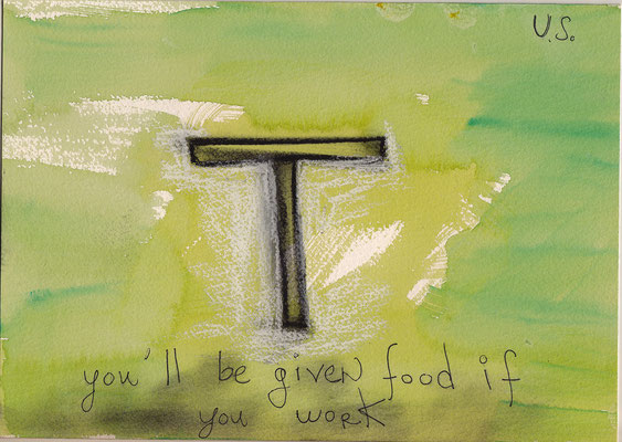 Errances #039, Food-Work, 2014, 23 x 17 cm. - 9 x 6.5 inches.