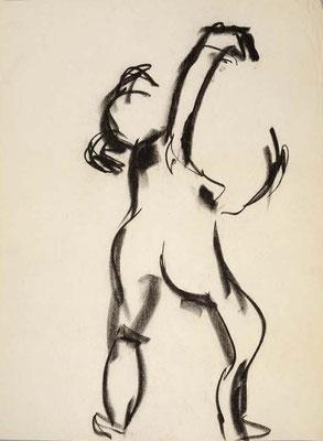#103, fusain sur papier,  45 x 61 cm- Charcoal on paper, 18 x 24