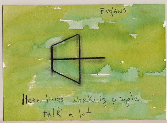 Errances #038, Working, 2015, 23 x 17 cm. - 9 x 6.5 inches.