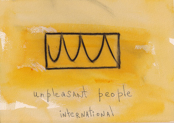 Errances #125, Unpleasant, 2014, 23 x 17 cm. - 9 x 6.5 inches.