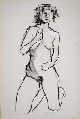 2010, #18, fusain sur papier, 61 x 91 cm. - Charcoal on paper, 24 x 36