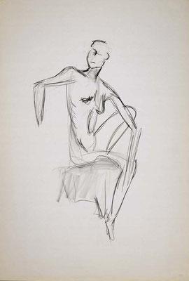 1999, #46, fusain sur papier, 61 x 91 cm. - Charcoal on paper, 24 x 36