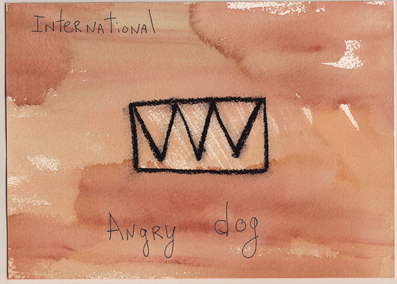 Errances #062, Angry dog, 2015, 23 x 17 cm. - 9 x 6.5 inches.