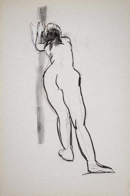 1996, #55, fusain sur papier, 61 x 91 cm. - Charcoal on paper, 24 x 36