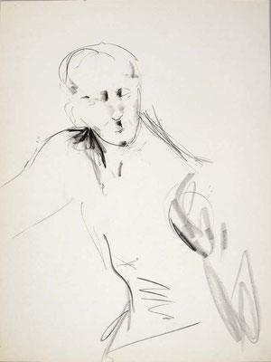 #111, fusain sur papier,  45 x 61 cm- Charcoal on paper, 18 x 24