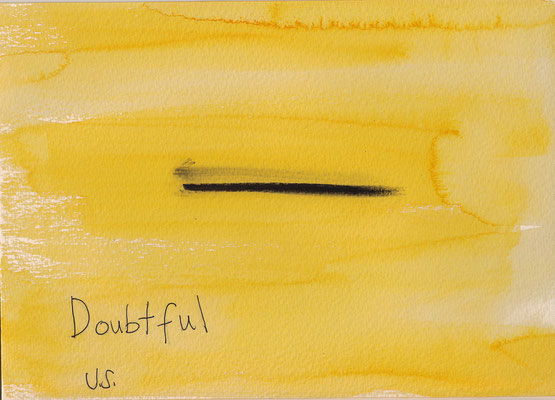 Errances #024, Doubtful, 2014, 23 x 17 cm. - 9 x 6.5 inches.