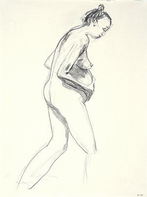 2012, #7, fusain sur papier,   45 x 61 cm- Charcoal on paper, 18 x 24