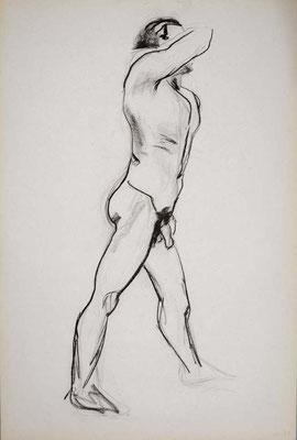 1999, #40, fusain sur papier, 61 x 91 cm. - Charcoal on paper, 24 x 36