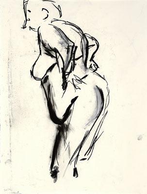2012, #2, fusain sur papier - Charcoal on paper