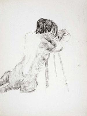 1985, #65, fusain sur papier, 45 x 61 cm. - Charcoal on paper, 18 x 24