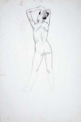 1999, #45, fusain sur papier, 61 x 91 cm. - Charcoal on paper, 24 x 36