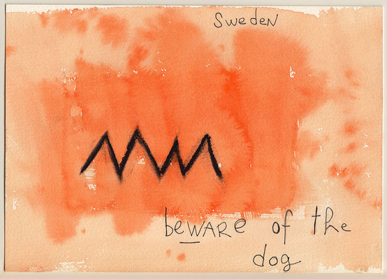 Errances #059, Beware of dog, 2014, 23 x 17 cm. - 9 x 6.5 inches.