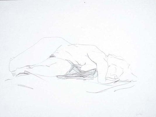 1991, #96, crayon sur papier,  45 x 61 cm- pencil on paper, 18 x 24