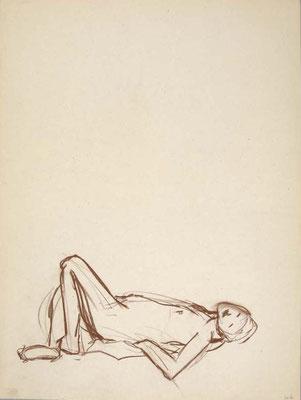 2006, #98, sanguine sur papier,  45 x 61 cm- Red chalk on paper, 18 x 24