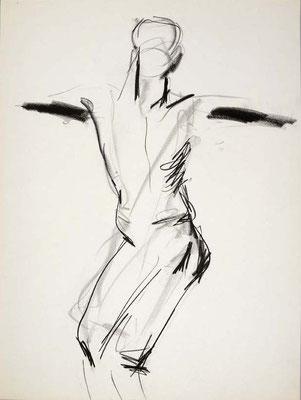 #112, fusain sur papier,  45 x 61 cm- Charcoal on paper, 18 x 24