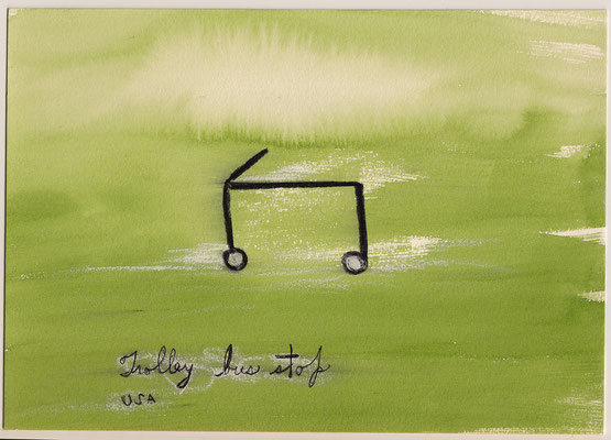 Errances #003, Trolley, 2014, 23 x 17 cm.- 9 x 6.5 inches.