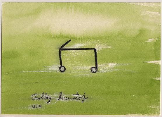 Errances #003, Trolley, 2015, 23 x 17 cm.- 9 x 6.5 inches.