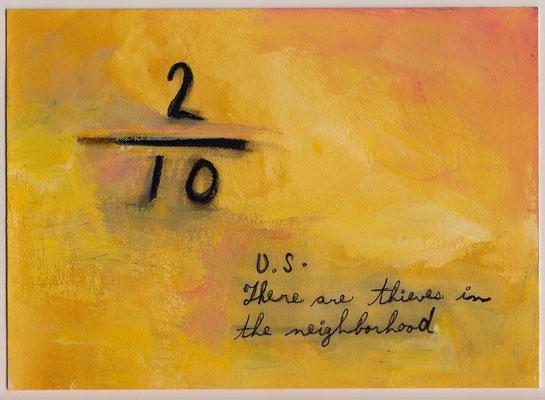 Errances #086, Thieves, 2015, 23 x 17 cm. - 9 x 6.5 inches.