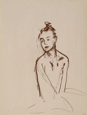 2012, #8, sanguine sur papier,  45 x 61 cm- Red chalk on paper, 18 x 24