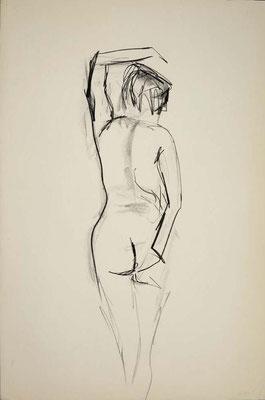1999, #44, fusain sur papier, 61 x 91 cm. - Charcoal on paper, 24 x 36